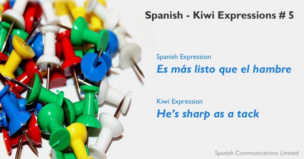 Spanish - kiwi expressions # 5