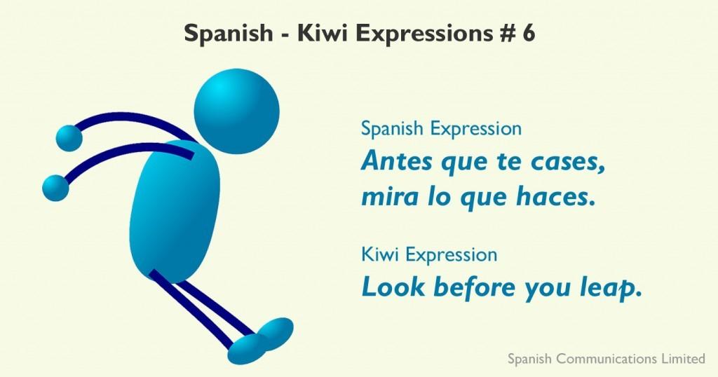 Spanish - Kiwi expressions # 6