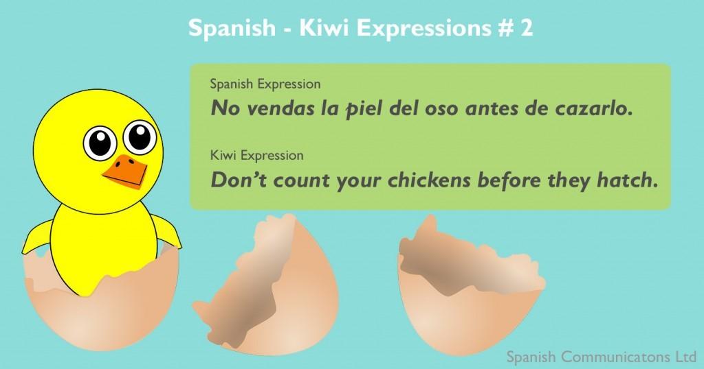 Spanish - Kiwi expressions #2